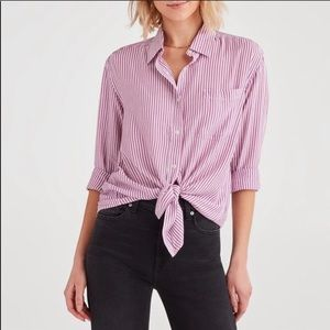 🆕Like New Mauve Pink Stripped Button Down
